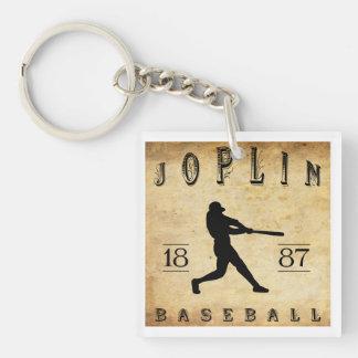 Béisbol 1887 de Joplin Missouri Llavero Cuadrado Acrílico A Doble Cara