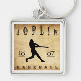Béisbol 1887 de Joplin Missouri Llavero Cuadrado Plateado