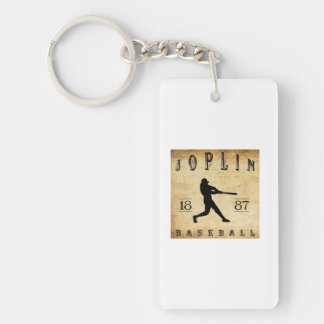 Béisbol 1887 de Joplin Missouri Llavero Rectangular Acrílico A Una Cara