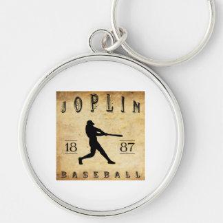 Béisbol 1887 de Joplin Missouri Llavero Redondo Plateado