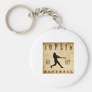 Béisbol 1887 de Joplin Missouri Llavero Redondo Tipo Pin