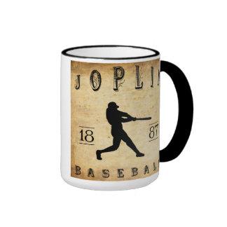 Béisbol 1887 de Joplin Missouri Taza De Dos Colores