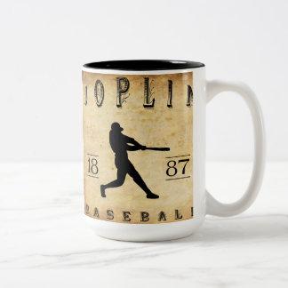 Béisbol 1887 de Joplin Missouri Taza De Dos Tonos