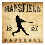 Béisbol 1887 de Mansfield Ohio Impresion Fotografica