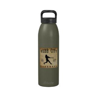 Béisbol 1887 de Missouri de la ciudad de Webb Botellas De Agua Reutilizables