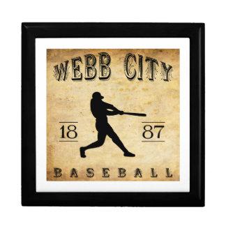Béisbol 1887 de Missouri de la ciudad de Webb Caja De Recuerdo