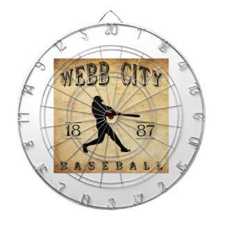 Béisbol 1887 de Missouri de la ciudad de Webb Tablero De Dardos