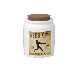 Béisbol 1887 de Missouri de la ciudad de Webb Jarras Para Caramelos