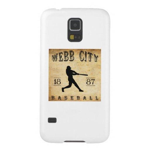 Béisbol 1887 de Missouri de la ciudad de Webb Fundas Para Galaxy S5