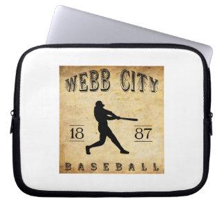 Béisbol 1887 de Missouri de la ciudad de Webb Funda Portátil