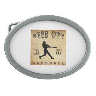 Béisbol 1887 de Missouri de la ciudad de Webb Hebillas De Cinturon