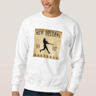 Béisbol 1887 de New Orleans Luisiana Sudadera Con Capucha