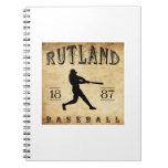 Béisbol 1887 de Rutland Vermont Cuadernos