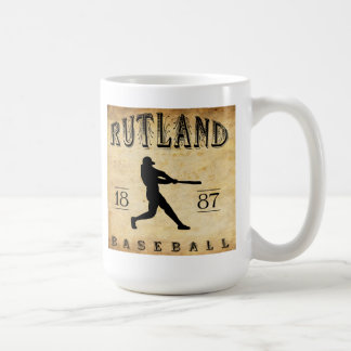 Béisbol 1887 de Rutland Vermont Tazas De Café
