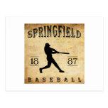 Béisbol 1887 de Springfield Missouri Tarjetas Postales