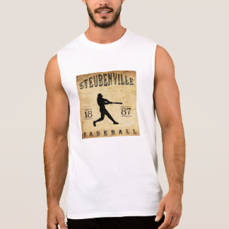 Béisbol 1887 de Steubenville Ohio Playeras Sin Mangas