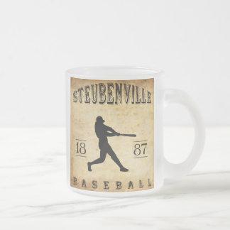 Béisbol 1887 de Steubenville Ohio Taza De Cristal