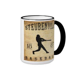 Béisbol 1887 de Steubenville Ohio Taza De Dos Colores