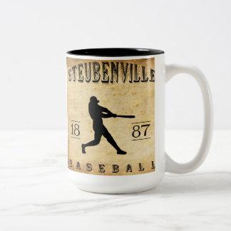 Béisbol 1887 de Steubenville Ohio Taza De Dos Tonos