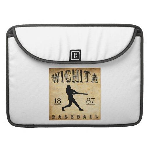 Béisbol 1887 de Wichita Kansas Funda Para Macbooks