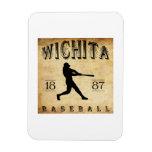 Béisbol 1887 de Wichita Kansas Imán De Vinilo