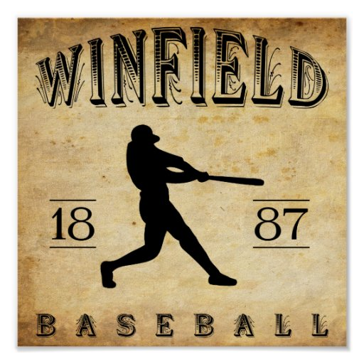 Béisbol 1887 de Winfield Kansas Impresiones