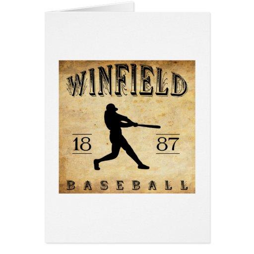 Béisbol 1887 de Winfield Kansas Tarjeta De Felicitación
