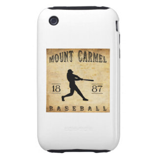Béisbol 1887 del monte Carmelo Pennsylvania iPhone 3 Tough Carcasas