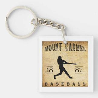 Béisbol 1887 del monte Carmelo Pennsylvania Llavero Cuadrado Acrílico A Una Cara