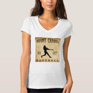 Béisbol 1887 del monte Carmelo Pennsylvania Playera