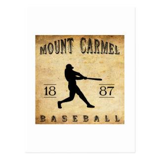 Béisbol 1887 del monte Carmelo Pennsylvania Tarjetas Postales