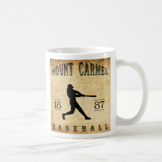 Béisbol 1887 del monte Carmelo Pennsylvania Taza De Café