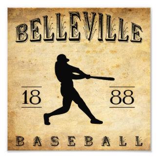 Béisbol 1888 de Belleville New Jersey Impresion Fotografica