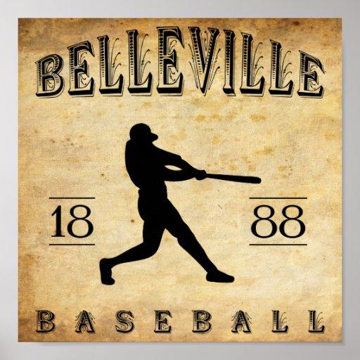 Béisbol 1888 de Belleville New Jersey Posters