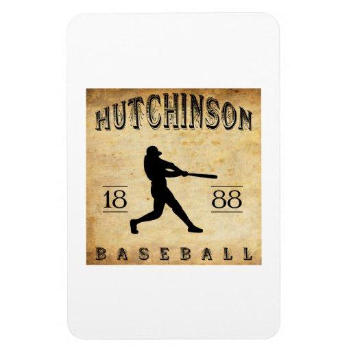 Béisbol 1888 de Hutchinson Kansas Imán Rectangular