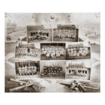 Béisbol 1888 de la liga nacional póster