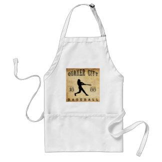 Béisbol 1888 de Pennsylvania de la ciudad del Quak Delantal