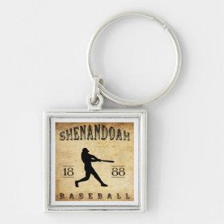 Béisbol 1888 de Shenandoah Pennsylvania Llavero Cuadrado Plateado
