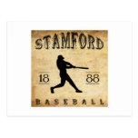 Béisbol 1888 de Stamford Connecticut Tarjeta Postal