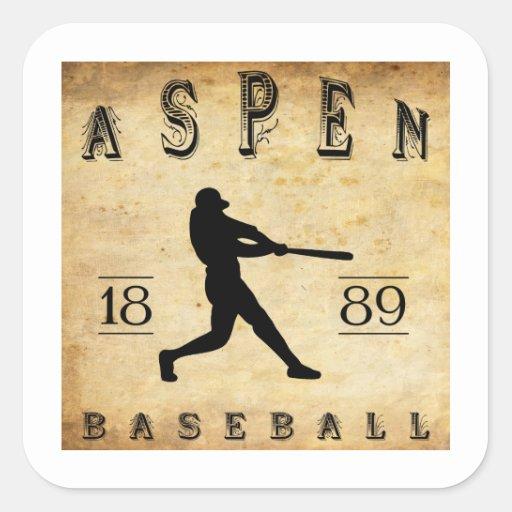 Béisbol 1889 de Aspen Colorado Colcomania Cuadrada