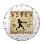 Béisbol 1889 de Aspen Colorado Tabla Dardos