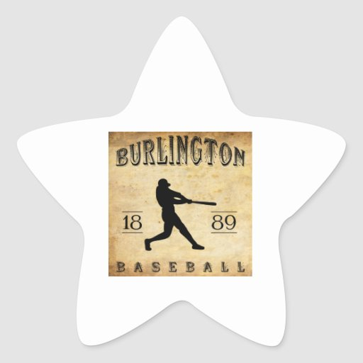 Béisbol 1889 de Burlington Iowa Pegatina En Forma De Estrella