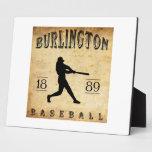 Béisbol 1889 de Burlington Iowa Placas