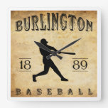 Béisbol 1889 de Burlington Iowa Reloj De Pared