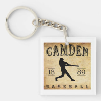 Béisbol 1889 de Camden Delaware Llavero Cuadrado Acrílico A Una Cara