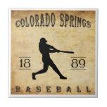 Béisbol 1889 de Colorado Springs Colorado Azulejos Cerámicos