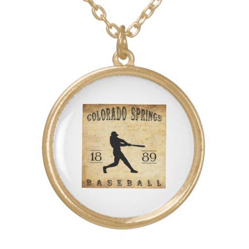 Béisbol 1889 de Colorado Springs Colorado Colgantes Personalizados