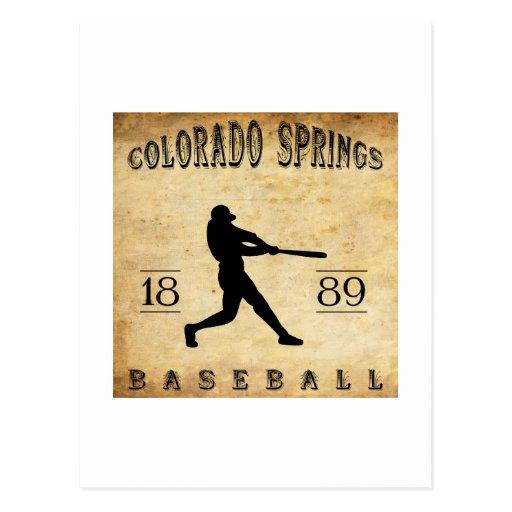 Béisbol 1889 de Colorado Springs Colorado Postales