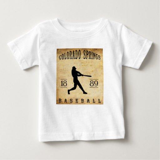 Béisbol 1889 de Colorado Springs Colorado Remera