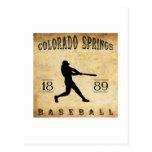 Béisbol 1889 de Colorado Springs Colorado Tarjeta Postal